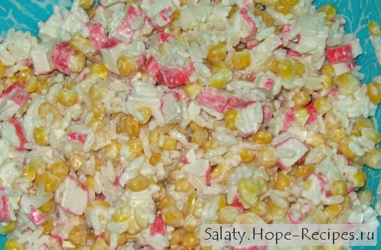 рецепты салата подсолнух с крабовыми палочками