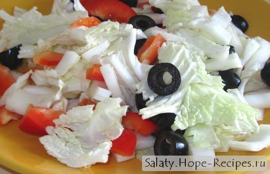 рецепт салатов с капустой и перцем