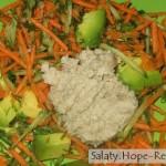 Салат из авокадо с огурцом
