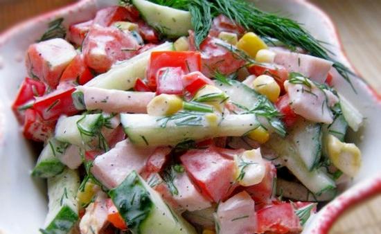 Куриный салат Парижель с овощами