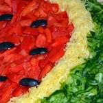 Праздничный салат Арбузная долька