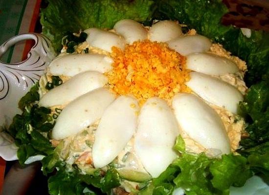 Ромашка - салат к празднику