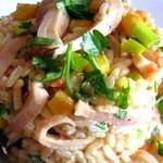 Салат с кальмарами, креветками и кукурузой