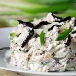 Русалочка - вкусный салат из кальмаров