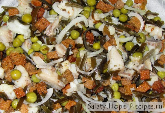 Салат из сельди под пиво