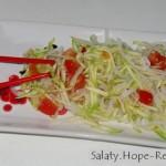 Салат с овощами и рисовой лапшой
