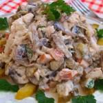 Мясной салат Спутник (рецепт с фото)