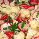Салат из сельдерея с цветной капустой