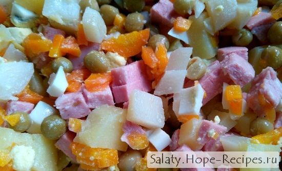 Зимний салат Оливье - рецепт бабушки