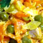 Купеческий салат со свининой