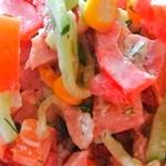 Парижель - салат с копченой курицей