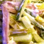 Салат из мяса с огурцами