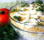 Салат из мяса с яблоком