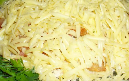 Салат слоями из говядины