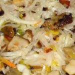 Постный салат из капусты с грибами