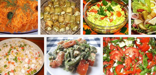 Рецепты вкусных постных салатов