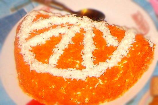 Новогодний вкусный салат Апельсиновая долька