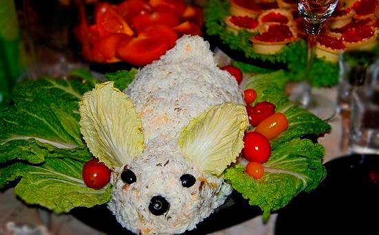 Кролик - салат на Пасху