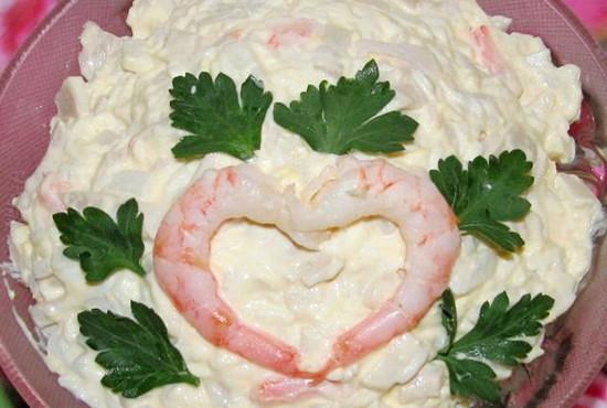 с рецепты салата с кальмарами