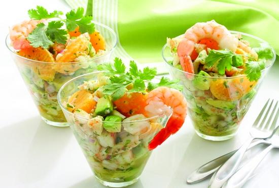 салат из фунчозы рецепт с креветками и