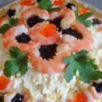 Вкусный салат с креветками Сказки Нептуна
