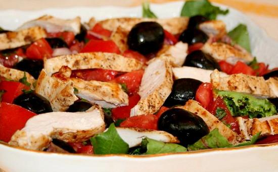 рецепты пп салатов с куриной грудкой