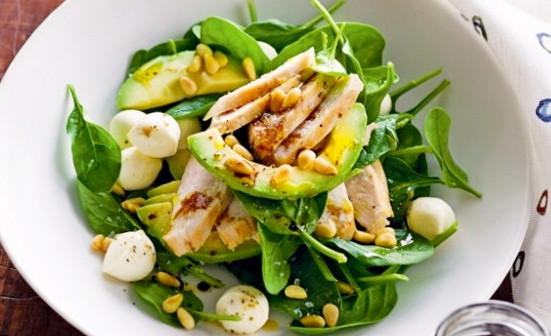 Рецепт салата с авокадо и курицей