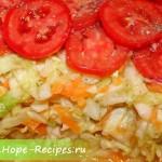 Сочный постный салат из белокочанной капусты