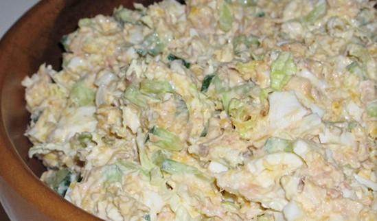 салат нежность с горбушей рецепт
