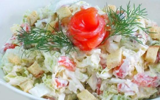 рецепты салатов из красной капусты с майонезом