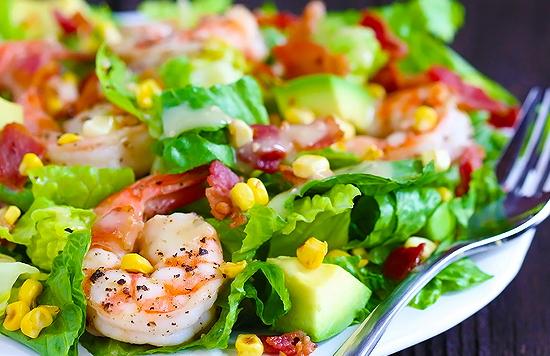 Вкусные салаты с креветками