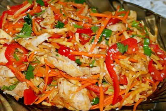 рецепты теплого салата с креветками с фото