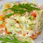 ПП салат с курицей авокадо и овощами
