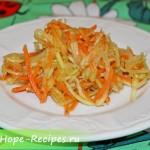 Пикантный салат из кабачка с морковью