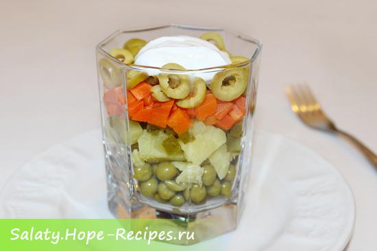 Как приготовить вкусный салат Оливье