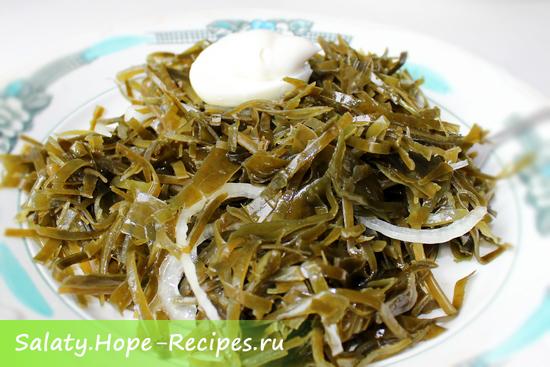 Дальневосточный салат с морской капустой