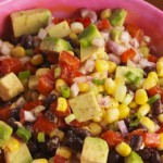 Санта Фе - салат с кукурузой и авокадо