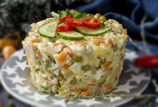 Новогодний Зимний салат