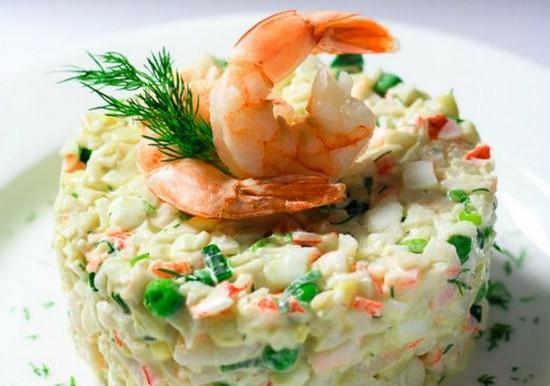 Салат с креветками на праздничный стол