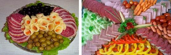праздничные мясные нарезки