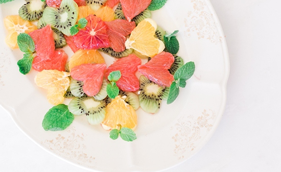 Фруктовый салат на 14 февраля