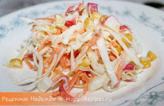 Простой и вкусный крабовый салат