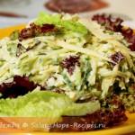 Салат со свежим огурцом и сыром