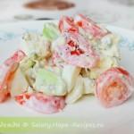Простой салат из авокадо с помидорами Черри