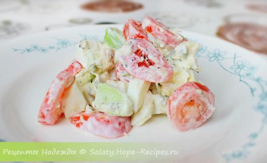 Салат из авокадо по простому рецепту