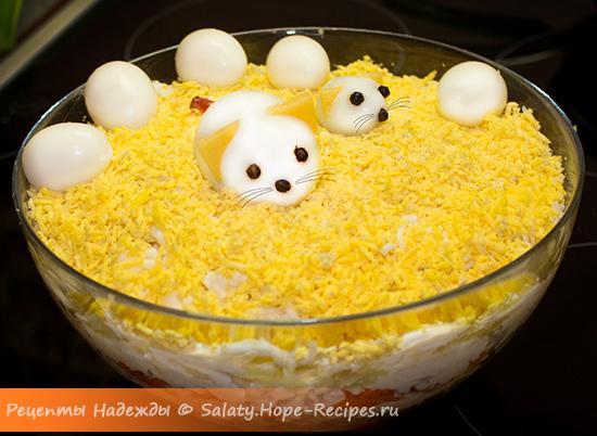 Новогодний салат 2020 Мимоза с мышками